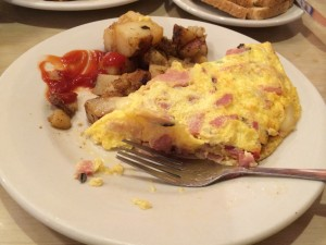 Ham & Cheese omelette at Harpoon Harry's, Key West, FL