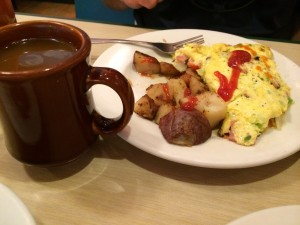 Western Omelette and Coffee at Harpoon Harry's, Key West, FL