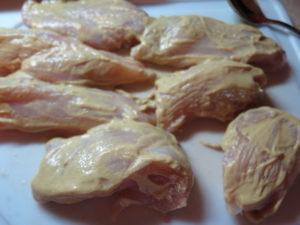 Pretzel Coated Chicken with honey mustard sauce