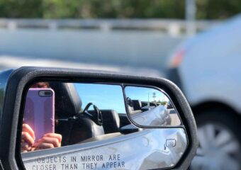 key west road trip camera in side mirror
