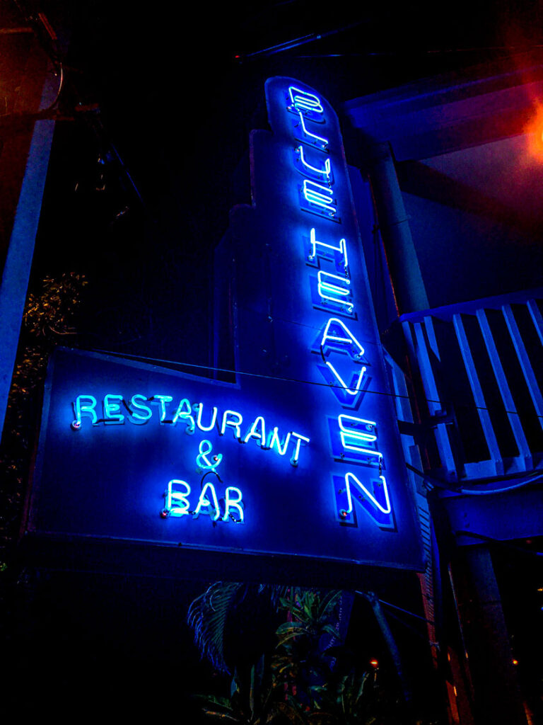 Blue Heaven Neon Sign