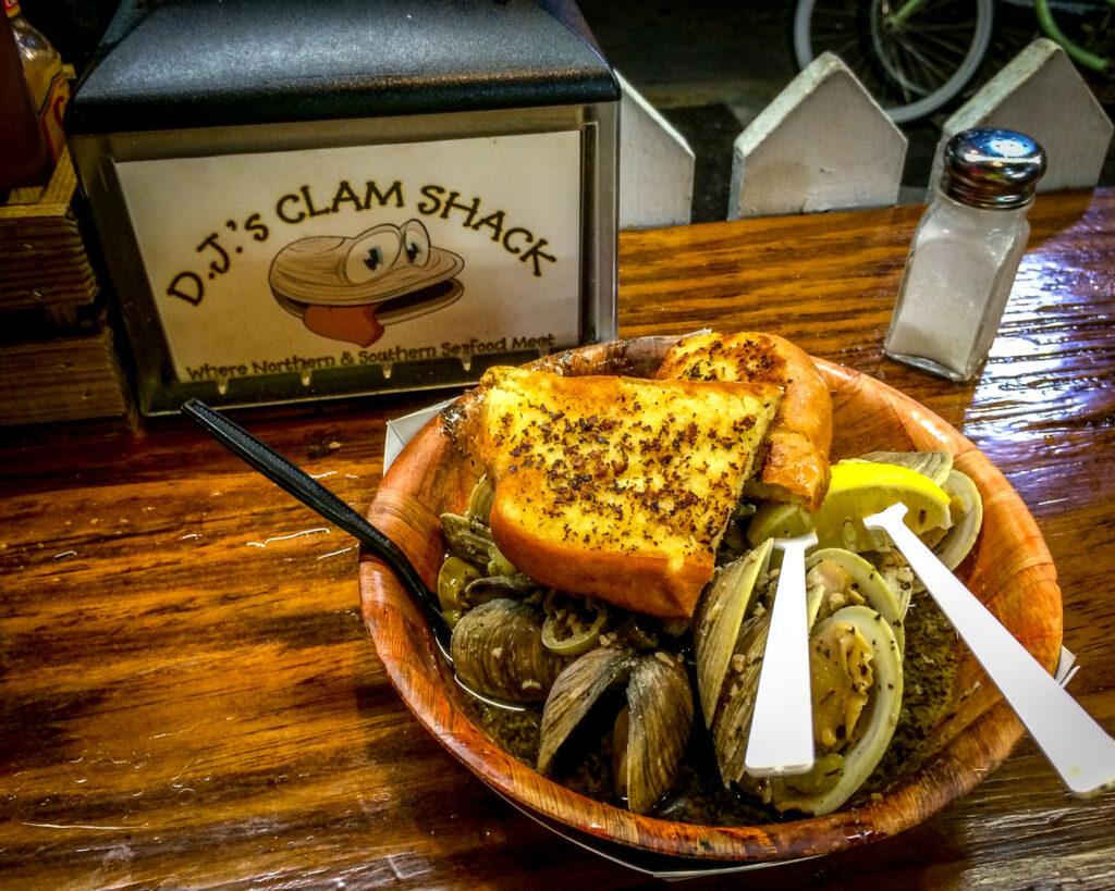 DJ Clam Shack food