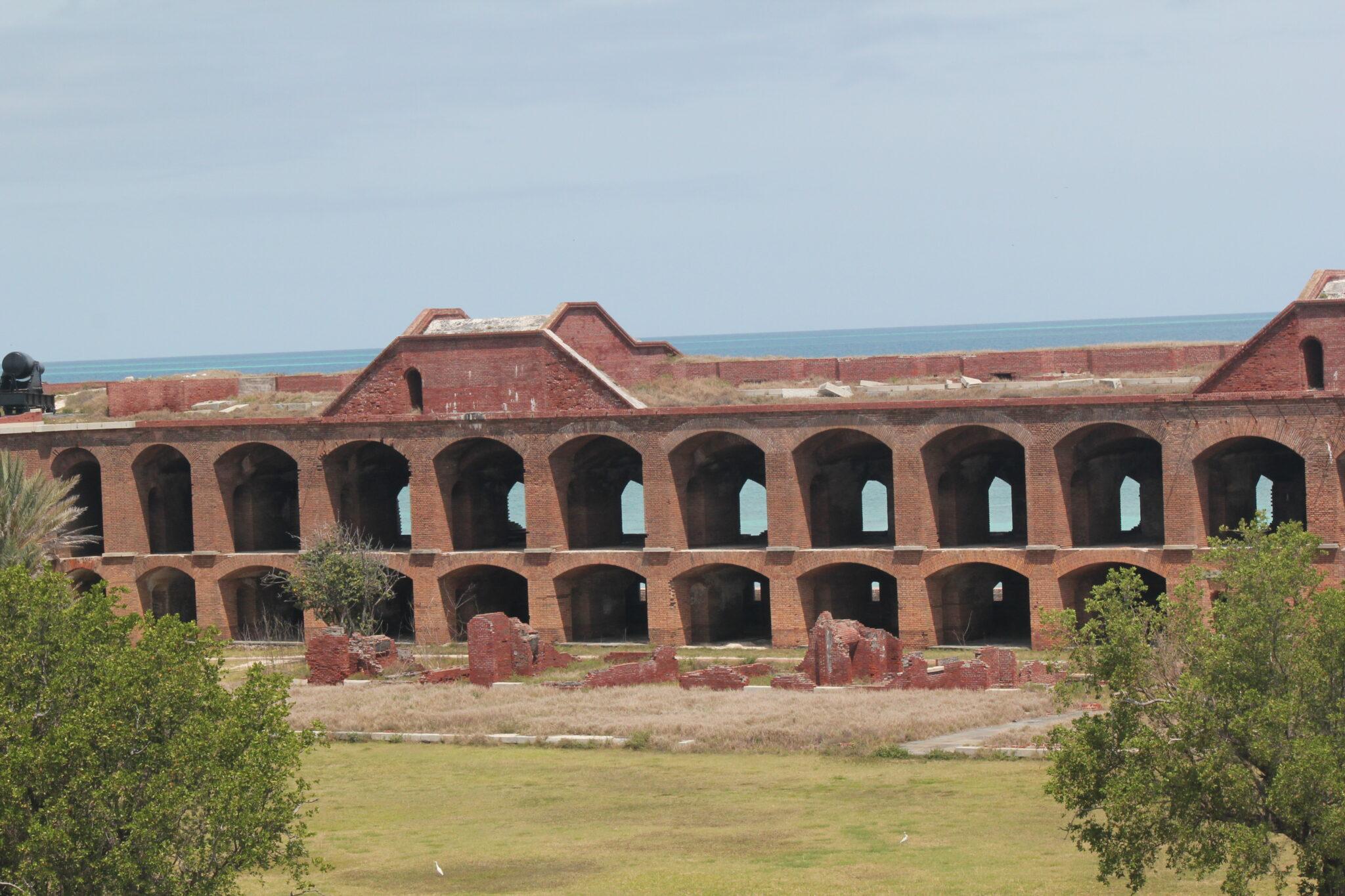 fort jefferson wall view best beach in key west