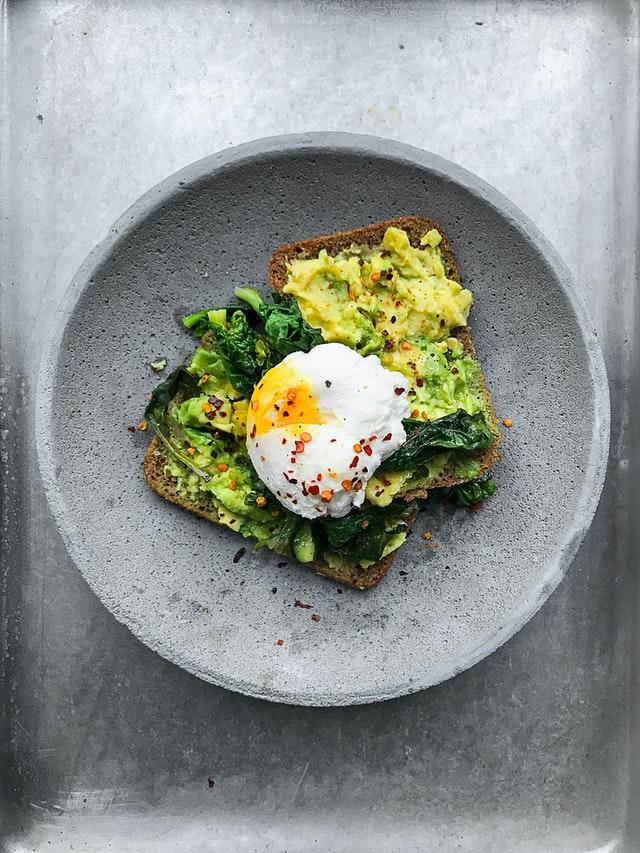 avocado toast in a bowl